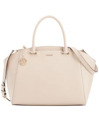 DKNY Bryant Park Saffiano Leather Large Satchel - Handbags ...