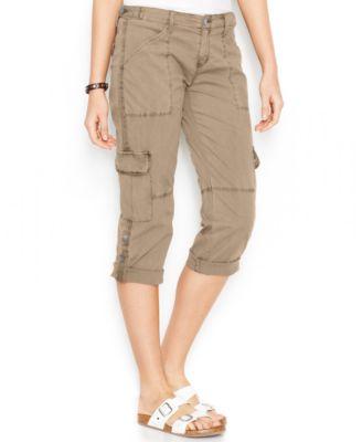 Sanctuary Mid-Rise Cropped Cargo Pants - Pants - Women - Macy's