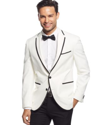 Kenneth Cole New York Classic Fit Black Trimmed Dinner Jacket ...