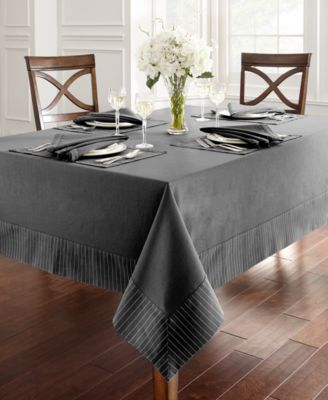"Waterford Rigato Tablecloth 70"" x 144"""