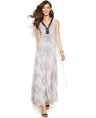 Animal print petite maxi dresses