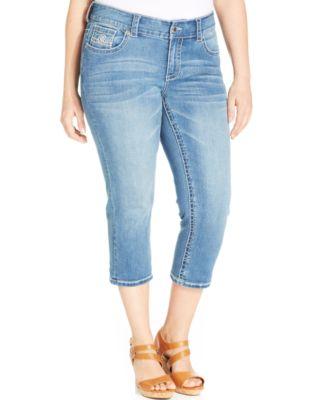 Seven7 Jeans Plus Size Straight-Leg Jeans, Beatnik Blue Wash ...
