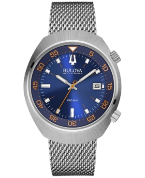 Bulova Accutron Ii Men's Uhf Stainless Steel Mesh Bracelet Watch 44mm 96B232