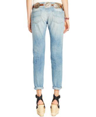 Polo Ralph Lauren Distressed Boyfriend Jeans - Jeans - Women - Macy's
