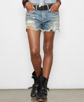 Denim & Supply Ralph Lauren Relaxed Cut-Off Shorts, Tussey Wash ...