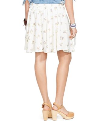 Denim & Supply Ralph Lauren Floral-Print A-Line Mini Skirt ...