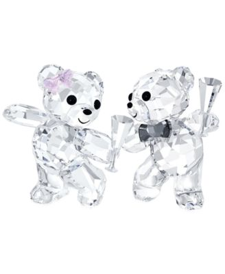 Swarovski Let's Celebrate Kris Bear Figurine Pair