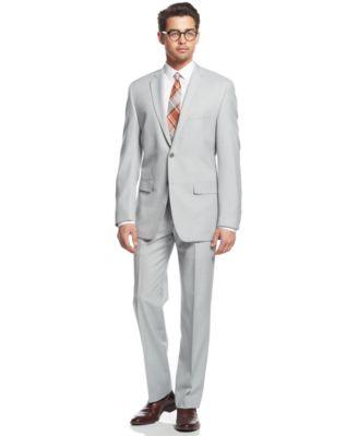 Alfani RED Light Grey Slim-Fit Suit Separates - Suits & Suit ...