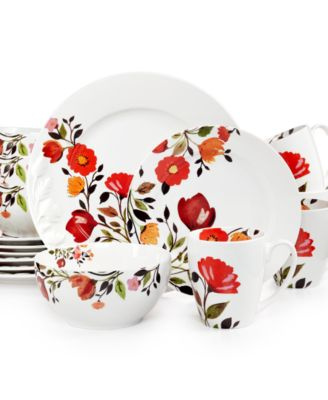 Kim Parker Tulips 16-Pc. Set, Service for 4