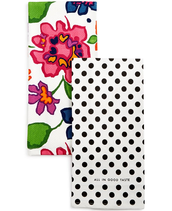 kate spade new york - Festive Floral Kitchen Towel