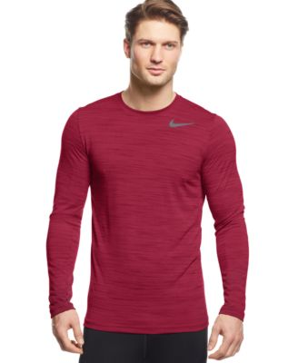 Nike Dri-FIT Touch Performance Long Sleeve Shirt - T-Shirts - Men ...