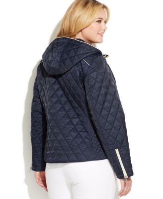 Nautica Plus Size Hooded Quilted Jacket - Jackets & Blazers ...
