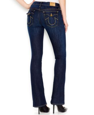 True Religion Petite Becca Bootcut Jeans, Dark Wash - Jeans ...