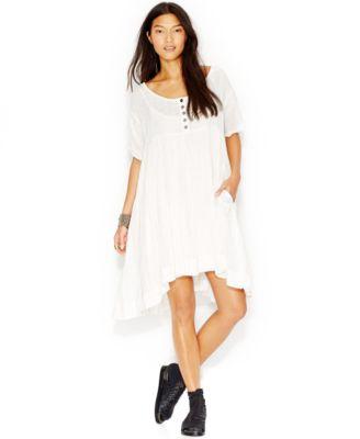 Free People Summer Winds Cotton Handkerchief-Hem Dress