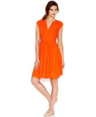 Maison Jules V-Neck A-Line Dress - Dresses - Women - Macy's