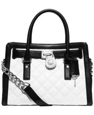 MICHAEL Michael Kors Hamilton Quilted East West Satchel - Handbags ... : michael kors quilted hamilton - Adamdwight.com