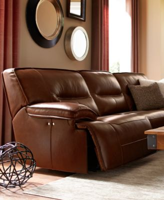 Beckett Leather 3-Piece Sectional Sofa with Power Recliner : 3 piece reclining sectional sofa - islam-shia.org