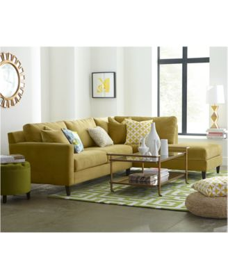 Adeline Fabric Sectional Sofa Collection Furniture Macys