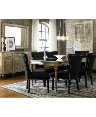 prosecco rectangular dining table - furniture - macy's
