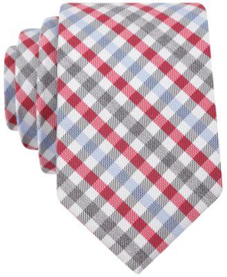 Bar Iii Carnaby Collection Ladbroke Check Skinny Tie