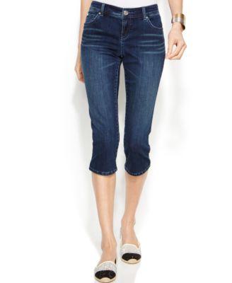 INC International Concepts Capri Skinny Jeans, Crawford Wash ...