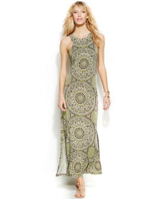 Inc international concepts dress racerback beaded maxi