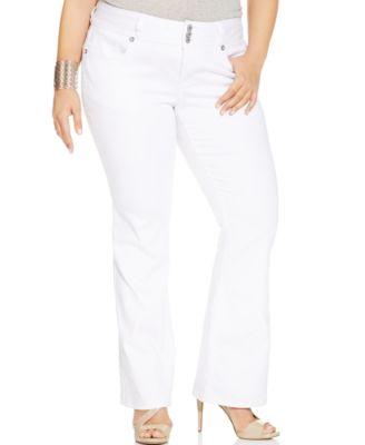 Hydraulic Plus Size Bootcut Jeans, White Wash - Jeans - Plus Sizes ...