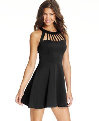 B Darlin Juniors\' Embellished Halter Dress - Dresses - Juniors ...
