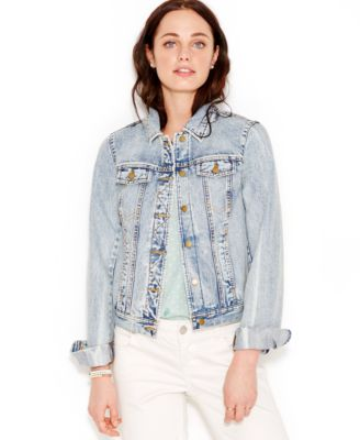 Maison Jules Light-Wash Denim Jacket - Jackets & Blazers - Women ...