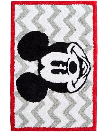 Mickey Chevron Rug. Disney Bath Accessories  Disney Mickey Mouse Trash Can   Bathroom