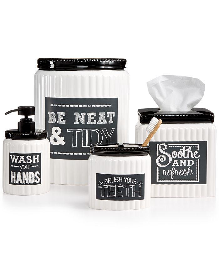 Avanti - Chalk It Up Bath Accessories Collection