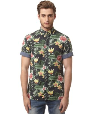 Buffalo David Bitton Floral Shirt - Casual Button-Down Shirts ...
