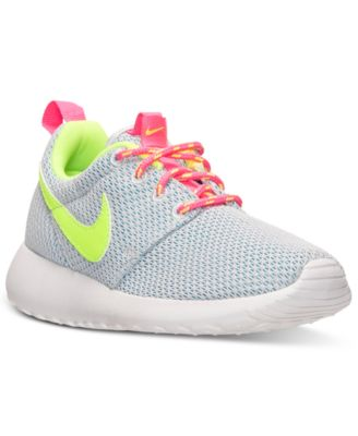 nike shoes for girls roshe. nike little girls\u0027 roshe run casual sneakers from finish line shoes for girls e
