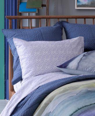 Blue Bell Gray Periwinkle Rain Dots California King Sheet Set