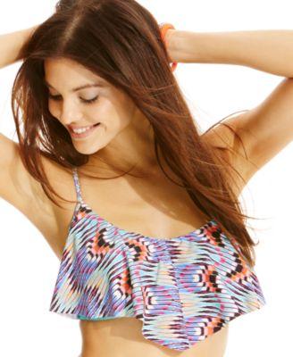 Profile Blush by Gottex Ruffled Printed Swimskirt - Swimwear ...