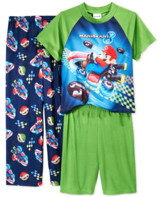 AME Boys' or Little Boys' 3-Piece Mario Kart Pajamas - Pajamas ...