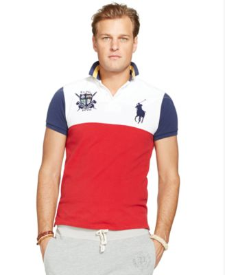 Polo Ralph Lauren Custom-Fit Colorblocked Polo