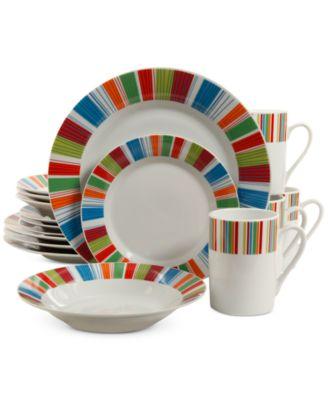 gibson veranda 16pc dinnerware set service for 4