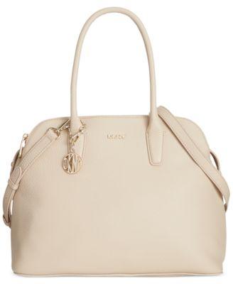 DKNY Tribeca Soft Tumbled Leather Triple Zip Satchel - Handbags ...