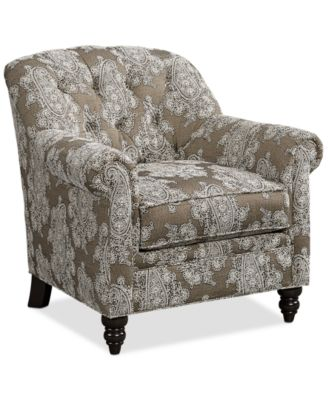 Nice Martha Stewart Collection New Club Fabric Roll Arm Accent Chair