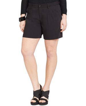 Lauren Ralph Lauren Plus Size Pleated Shorts
