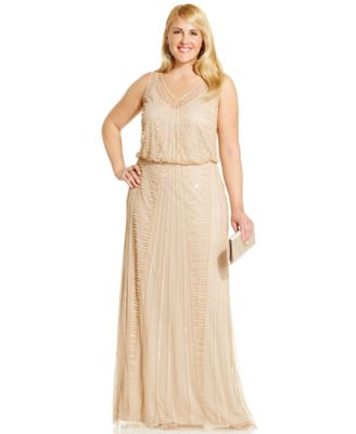 Adrianna Papell Plus Size Embellished Gown - Dresses - Women - Macy's