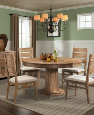 Champagne  Piece Round Dining Room Furniture Set Furniture Macys - Macys dining room sets