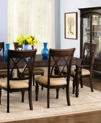 Bradford 9 Piece Dining Room Furniture Set With Upholstered Chairs