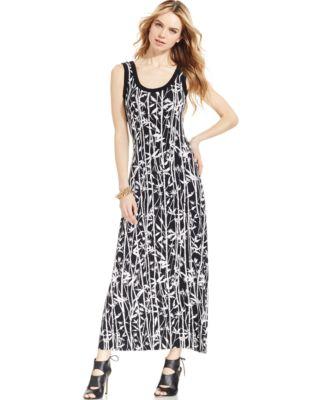 Karen Kane Sleeveless Printed Maxi Dress - Dresses - Women - Macy's
