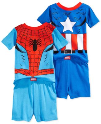 Marvel Toddler Boys' 4-Piece Superhero Pajamas - Kids & Baby - Macy's