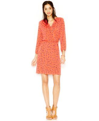 Maison Jules Printed Wrap Dress Dresses Women Macy S