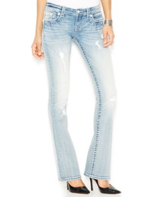 Miss Me Fade Embellished Bootcut Jeans, Light Wash - Jeans - Women ...