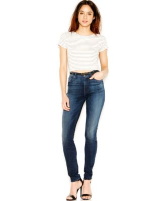 7 For All Mankind High-Waist Skinny Jeans, Dark Wash - Jeans ...