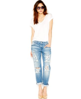 7 For All Mankind Relaxed Skinny Girlfriend Jeans, Rigid Vintage ...